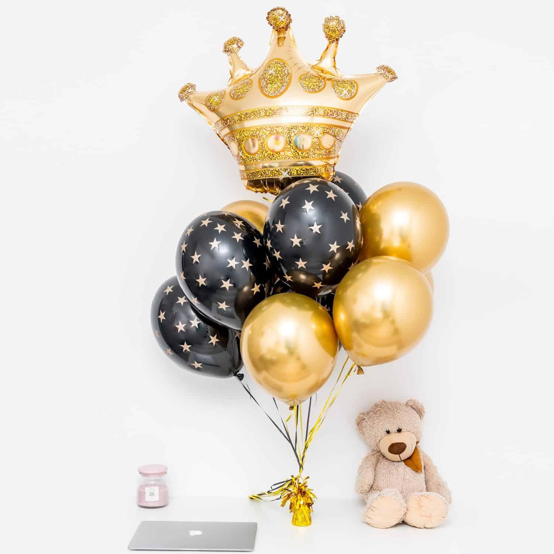 balon korona z helem